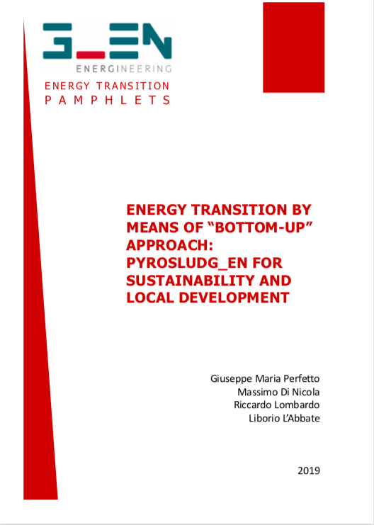 "Energy transition by means of ""bottom-up"" approach: Pyrosludg_en for sustainability and local development"